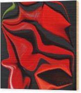 Deformed Peppers Wood Print