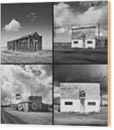 Defunct Country Taverns On North Dakota Prairie Composite Square Wood Print