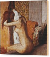 Degas: After The Bath Wood Print