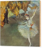 Degas Star, 1876-77. To License For Professional Use Visit Granger.com Wood Print