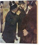 Degas: Stock Exchange Wood Print
