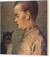 Degouve: Child & Owl, 1892 Wood Print