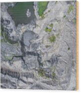Degraded Landscape Old Coal Mine In South Of Poland. Wood Print
