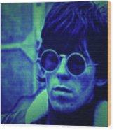 Deja Blue Rolling Stones Bill Wyman Wood Print