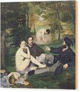 Dejeuner Sur L Herbe Wood Print by Edouard Manet