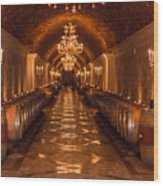 Del Dotto Wine Cellar Wood Print by Scott Campbell