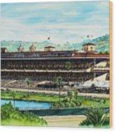 Del Mar Race Track Wood Print