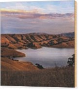 Del Valle At Sunset Wood Print