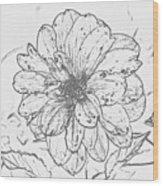 Lush Blossom Wood Print