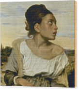 Delacroix: Orphan, 1824 Wood Print by Granger