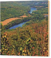 Delaware River From The Appalachian Trail Wood Print