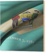 Delaware State Flag Wood Print