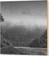 Delaware Water Gap Clouds Set In Wood Print