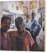 Delhi Barbershop Wood Print
