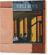 Deli Boys - Cafe Wood Print