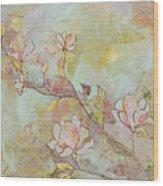 Delicate Magnolias Wood Print