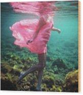 Delicate Mermaid Wood Print