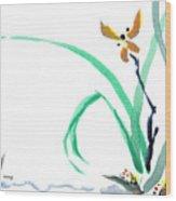 Delicate Orchid Wood Print