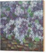 Delicate Perfumed Lilacs Wood Print