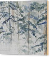 Delicate Pines Wood Print