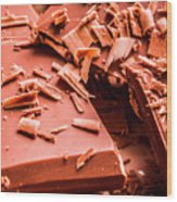 Delicious Bars And Chocolate Chips  Wood Print