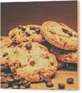 Delicious Sweet Baked Biscuits  Wood Print