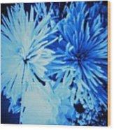 Delightfully Blue Wood Print