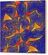 Delissianum V1 - Dancing Fire Wood Print