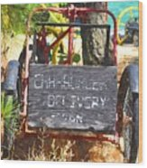 Delivery Wood Print