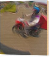 Delivery Motorcycle 62728202 Wood Print