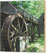 Dellinger Mill Wood Print