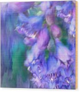 Delphinium Abstract Wood Print
