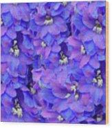 Delphinium Blue Wood Print
