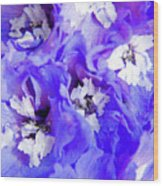 Delphinium Flowers Wood Print