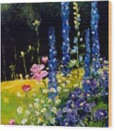 Delphiniums Wood Print