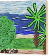 Delray Beach Wood Print