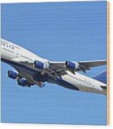 Delta Boeing 747-451 N667us Phoenix Sky Harbor October 7 2017  Wood Print