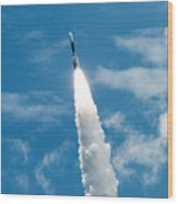 Delta Rocket From Cape Canaveral In Florida Wood Print