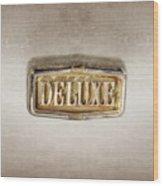 Deluxe Chrome Emblem Wood Print