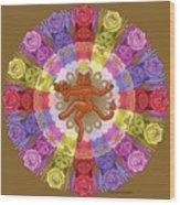 Deluxe Tribute To Tuko - Bronze Background Wood Print