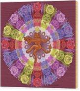 Deluxe Tribute To Tuko - Maroon Background Wood Print