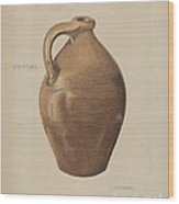 Demi-john Pottery Wood Print