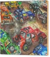 Demo Derby One Wood Print