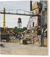 Demolition 4  Wood Print by Nancy Albrecht
