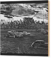 Demolition Derby Rain Storm Clouds #1 Tucson Arizona 1968 Wood Print