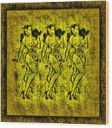 Demonios De Oro Wood Print