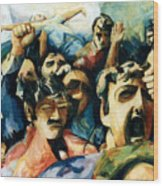 Demonstration - Art In Lebanon Wood Print