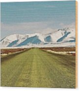 Dempster Highway - Yukon Wood Print