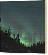 Dempster Highway Lights Wood Print