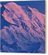 Denali Alpenglow Wood Print